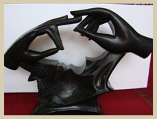 Black Modern Art Marble Sculpture