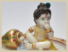Lord Shree Krishna Marble Sculpture